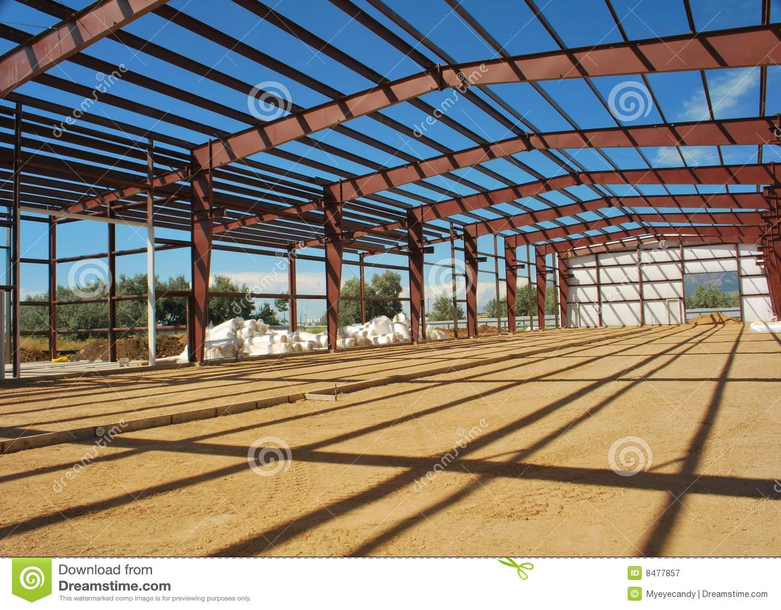 Steel Buildings Metal Frame : Steel building frame royalty free stock photography