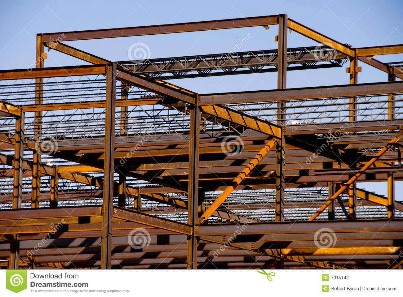 Steel Frame Construction : Steel building frame construction stock photo image