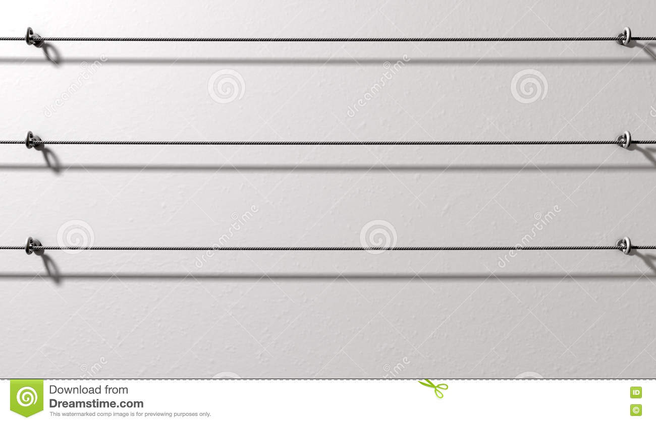 Steel Cable Display Wall Stock Illustration Illustration Of
