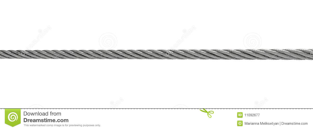 Steel Cable Isolated On White Stock Image - Image of clipping ...