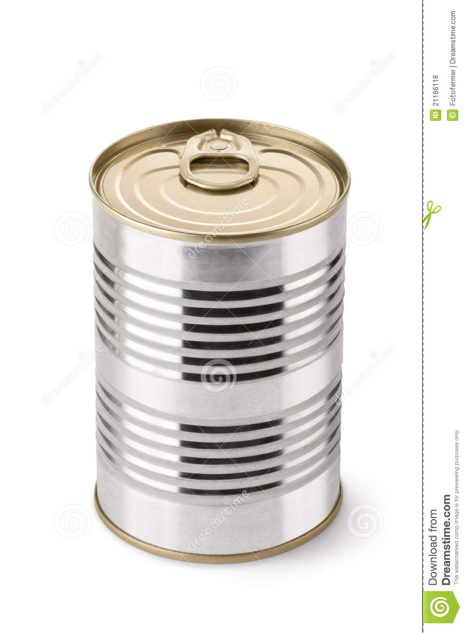 Steel can with key