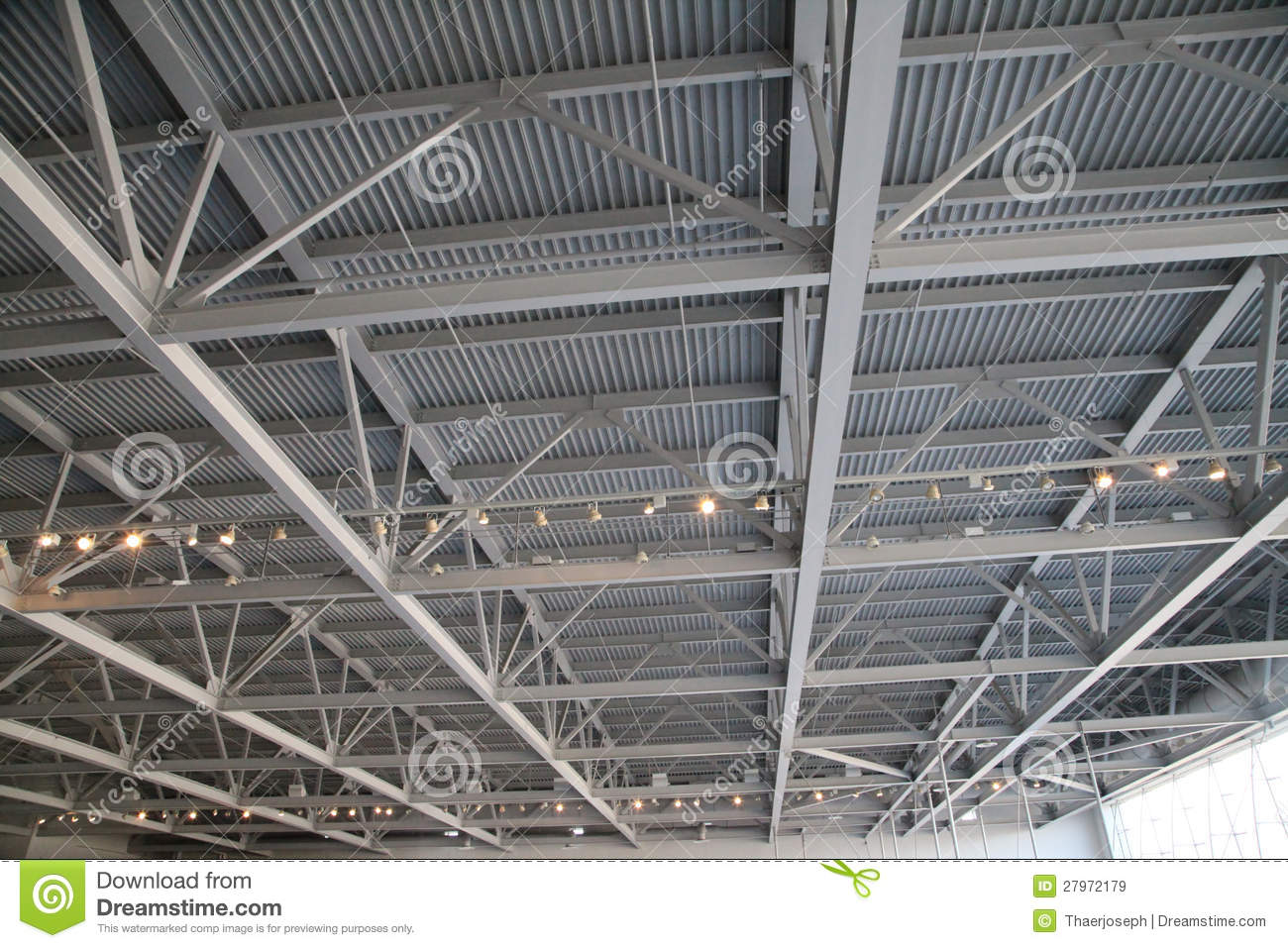 Steel Ceiling Structure Royalty Free Stock Images Image
