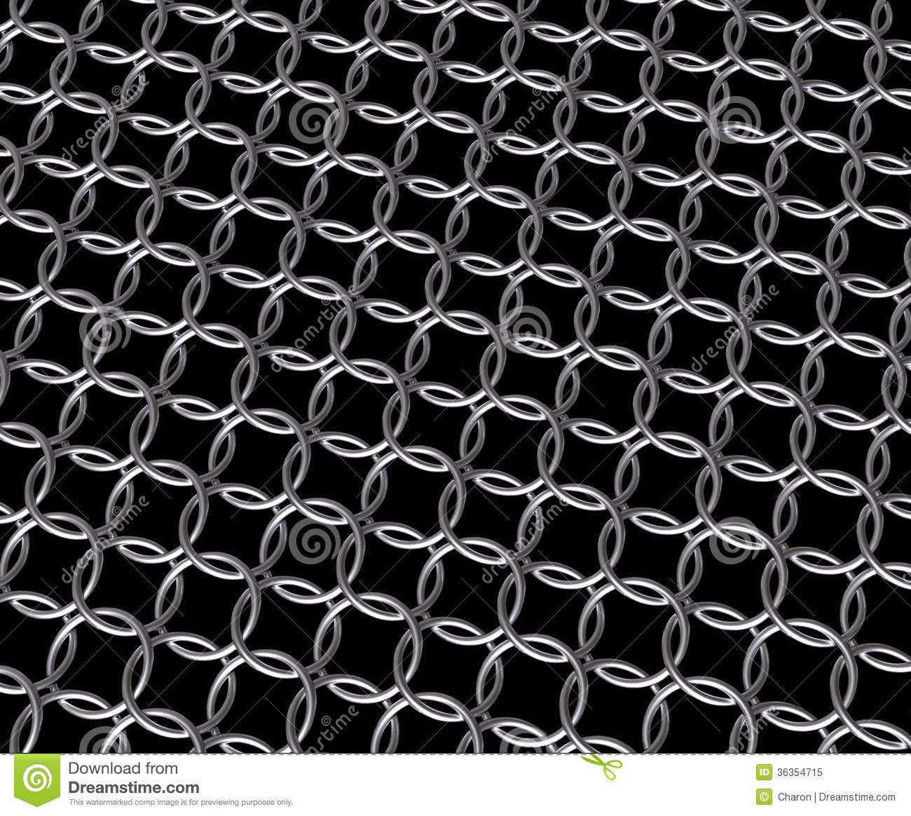 Steel Chain Mail Metal Ring Pattern Stock Image