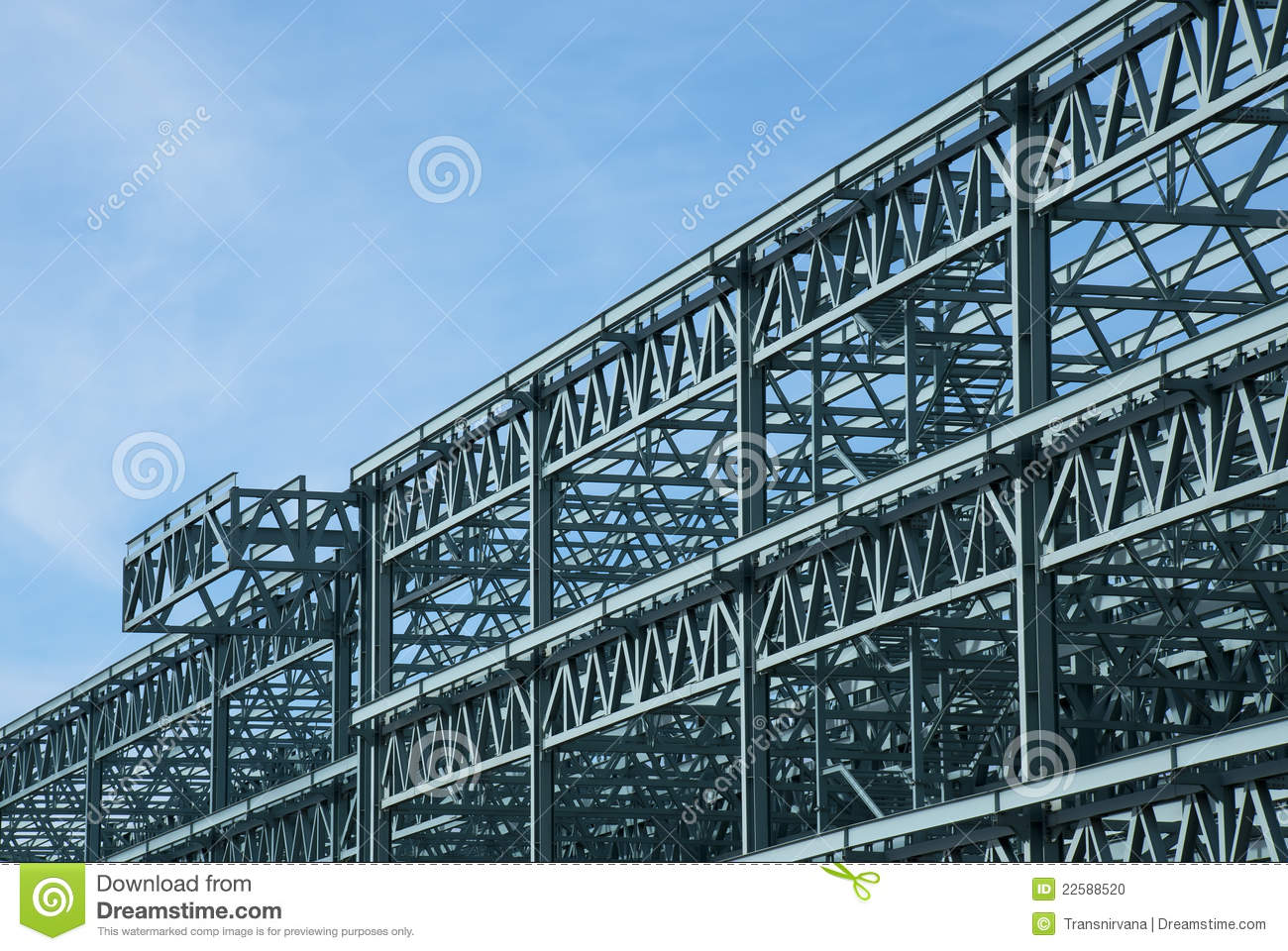 Steel Frame Construction : Steel construction frame stock photo image of exterior