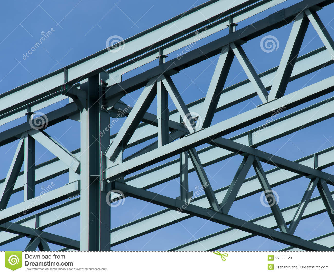 Steel Building Frame Only : Steel construction frame royalty free stock photos image