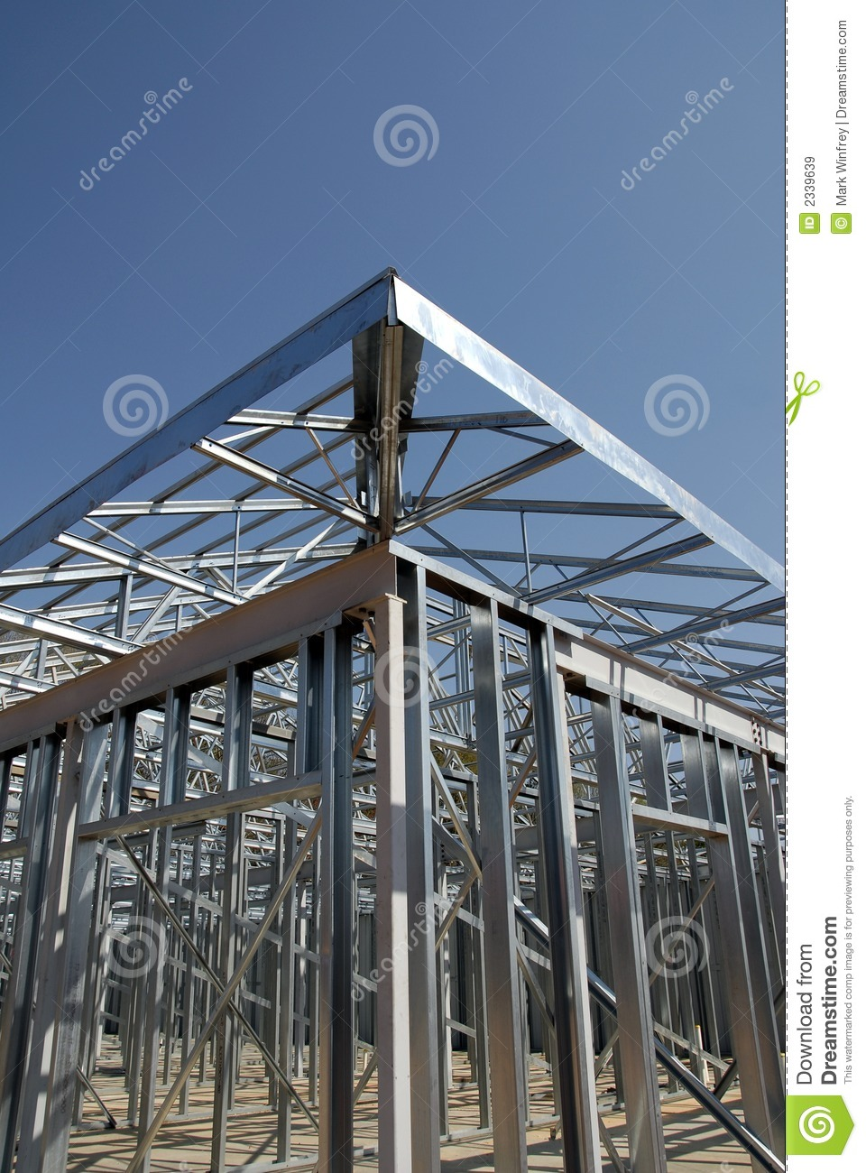 Steel Frame House Construction : Steel construction framing stock image of
