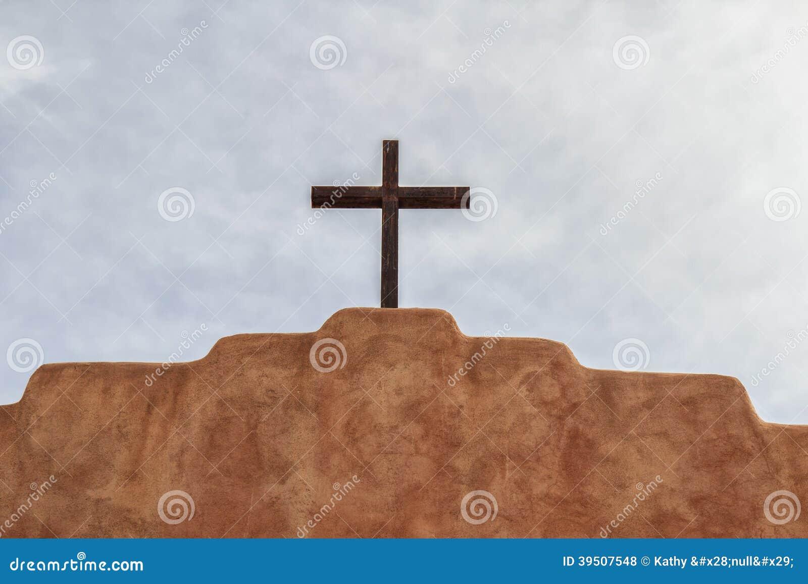 Steel cross on a church