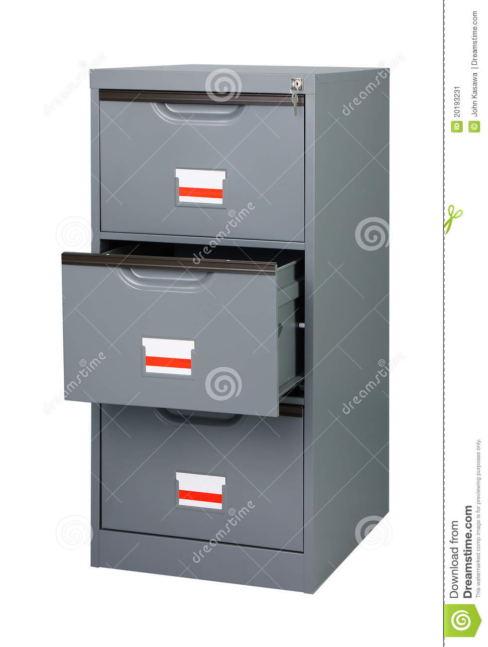 Steel Cupboard Office Furniture Stock Image Image