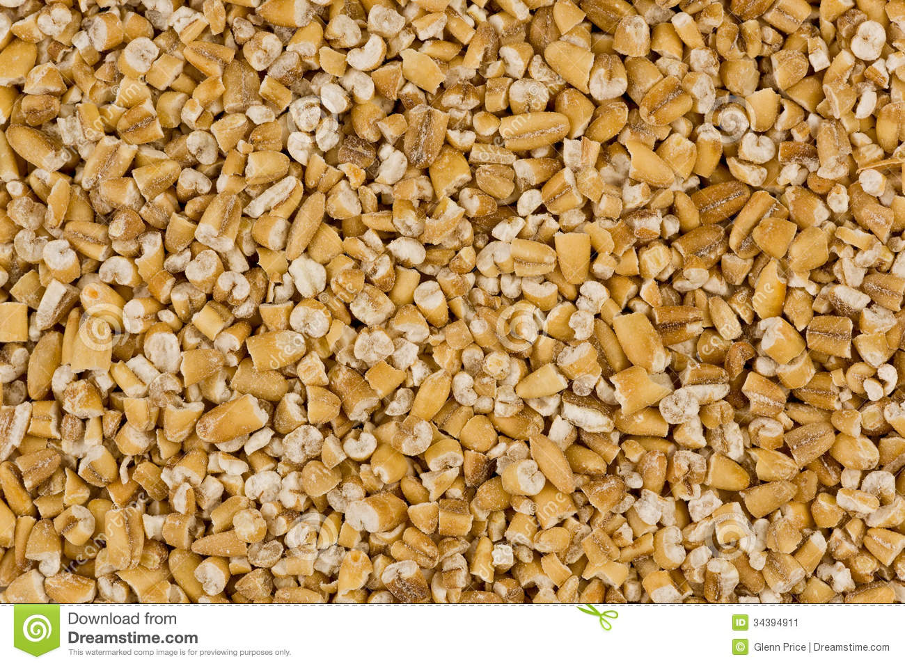 Background texture of steel-cut oats, or irish oats.