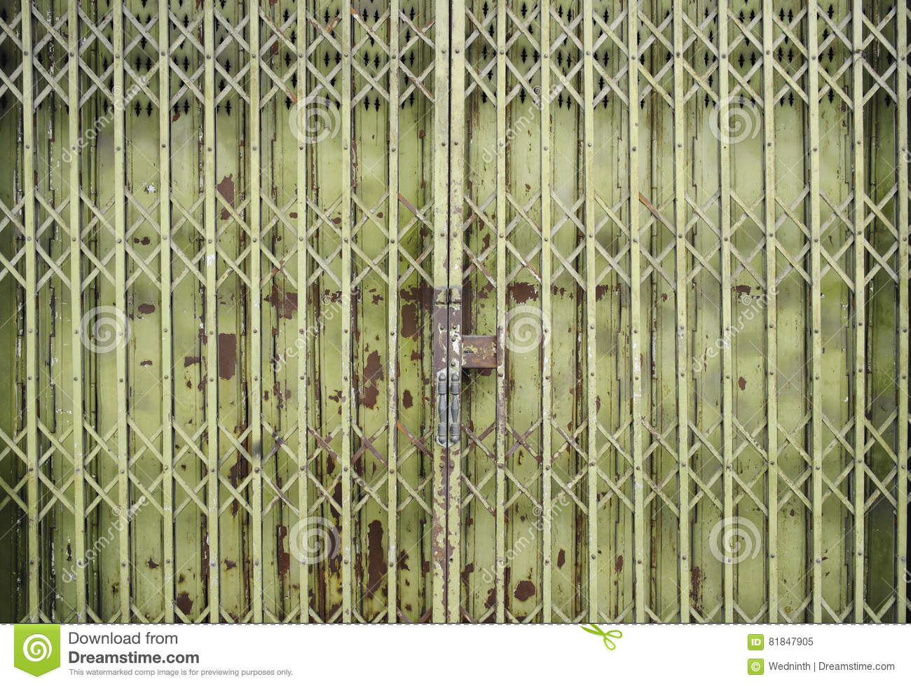 Steel Door Used To Open And Close The House Stock Image Image Of