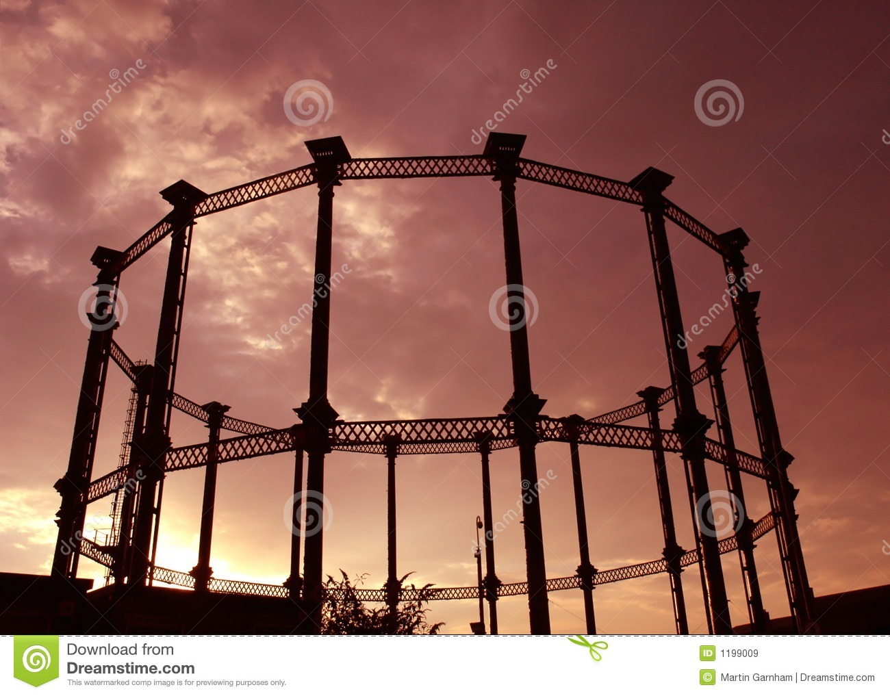 Steel Frame Towers : A steel frame of gas tower royalty free stock images