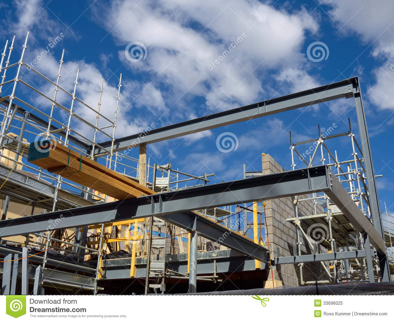 Steel Frame House Construction : Steel frame house construction royalty free stock photo