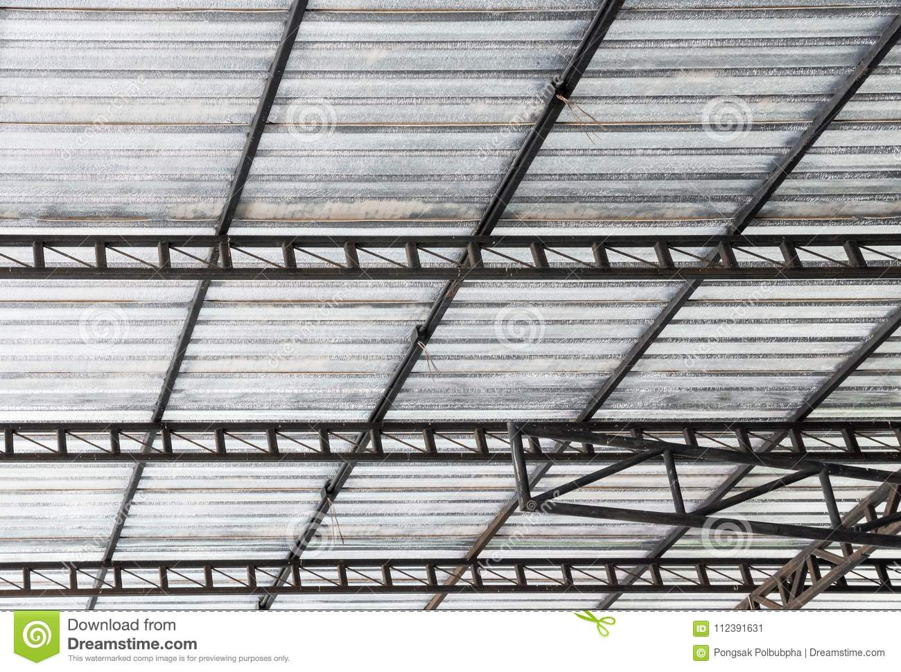 Steel Frame With The Insulation Sheet. Stock Image - Image of ...