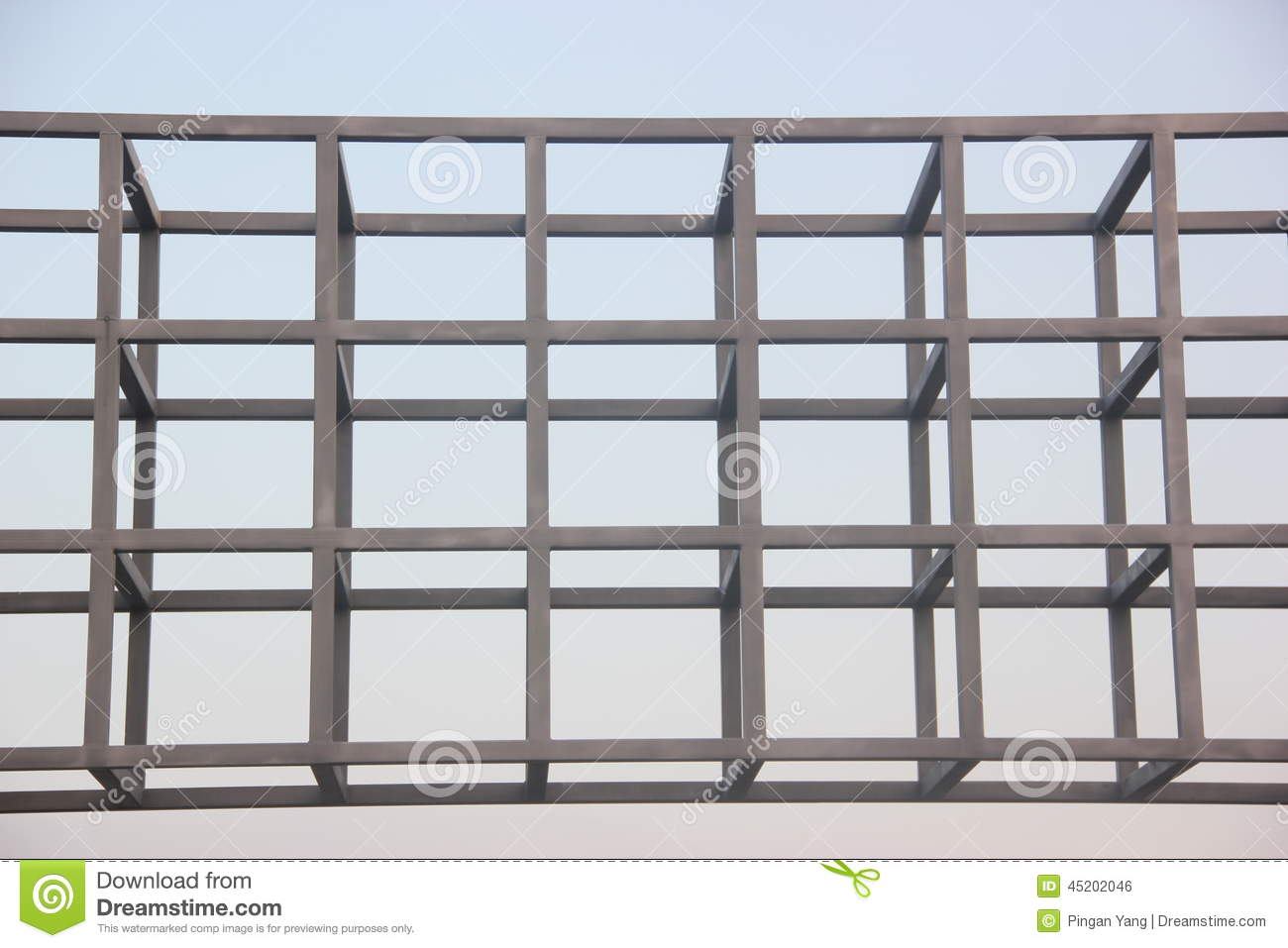 Steel frame structure stock photo. Image of manufacturing - 45202046