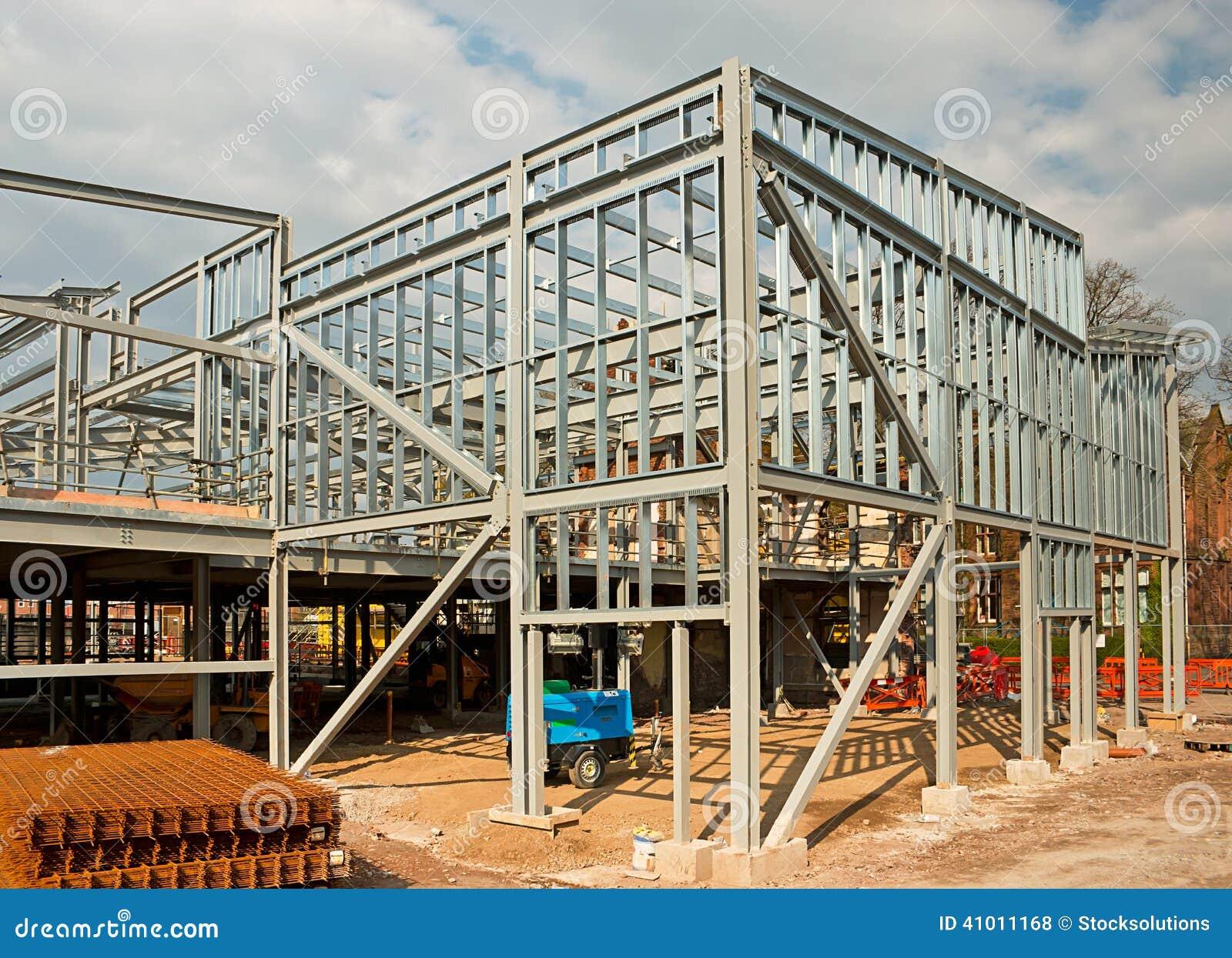 Steel Frame Skyscraper : Steel framed building stock photo image of agricultural