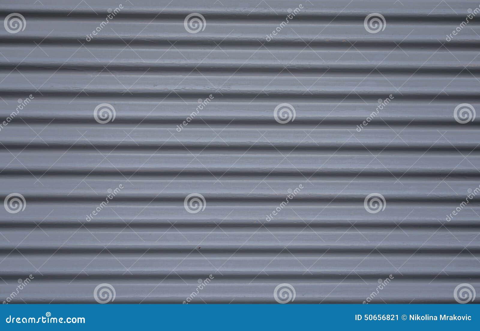 Steel garage grey doors