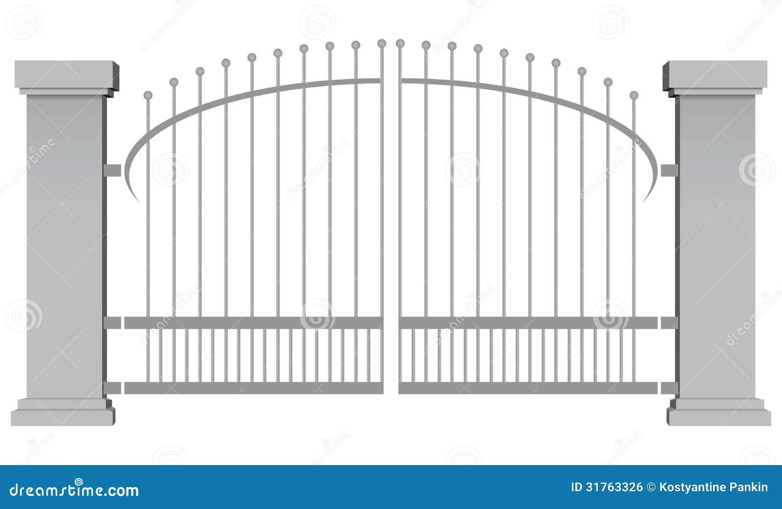 Steel gates royalty free stock image