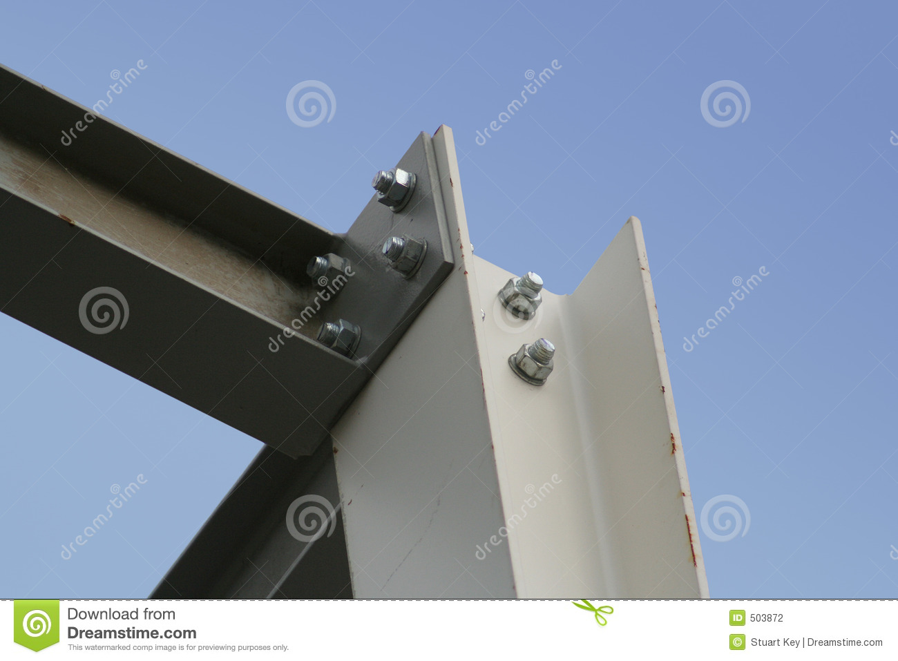 Steel girders stock photography image 503872 - Vigas de acero ...