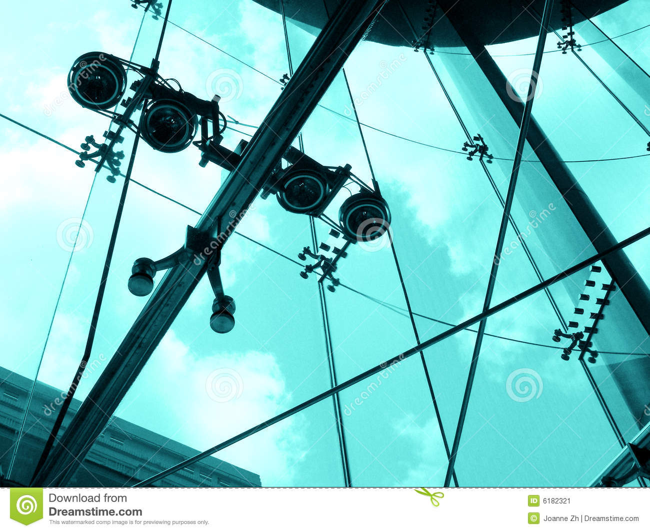 Steel And Glass Architecture Detail Stock Image Image