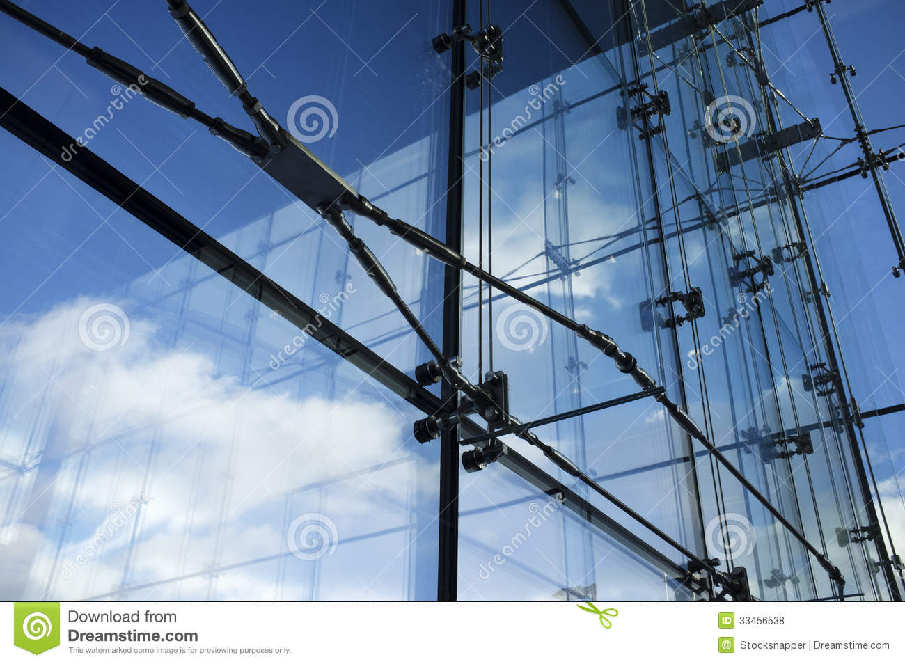 Steel And Glass Royalty Free Stock Photos Image 33456538