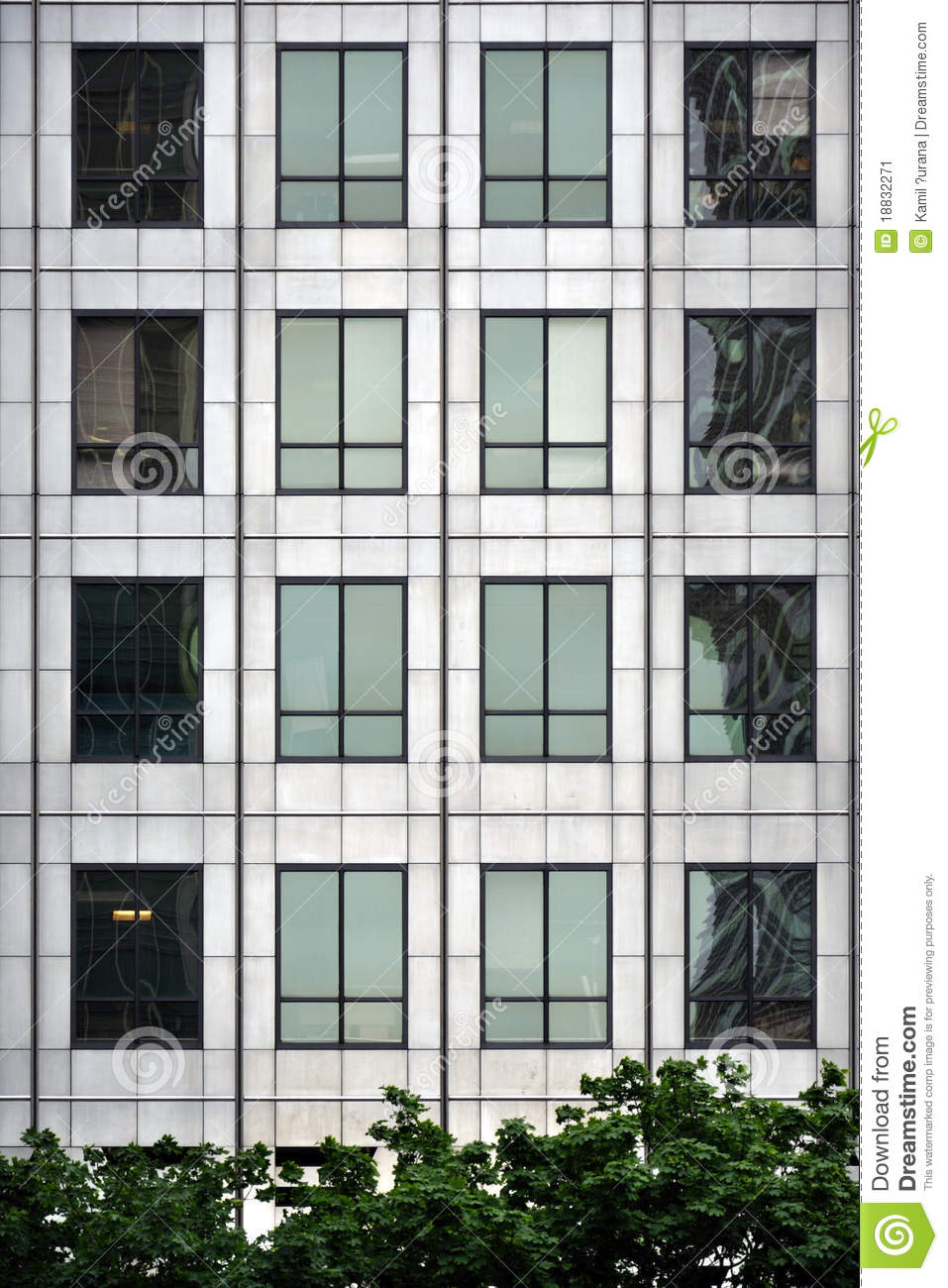 Window facade  Steel And Glass - Modern Window Facade Stock Image - Image: 18832271