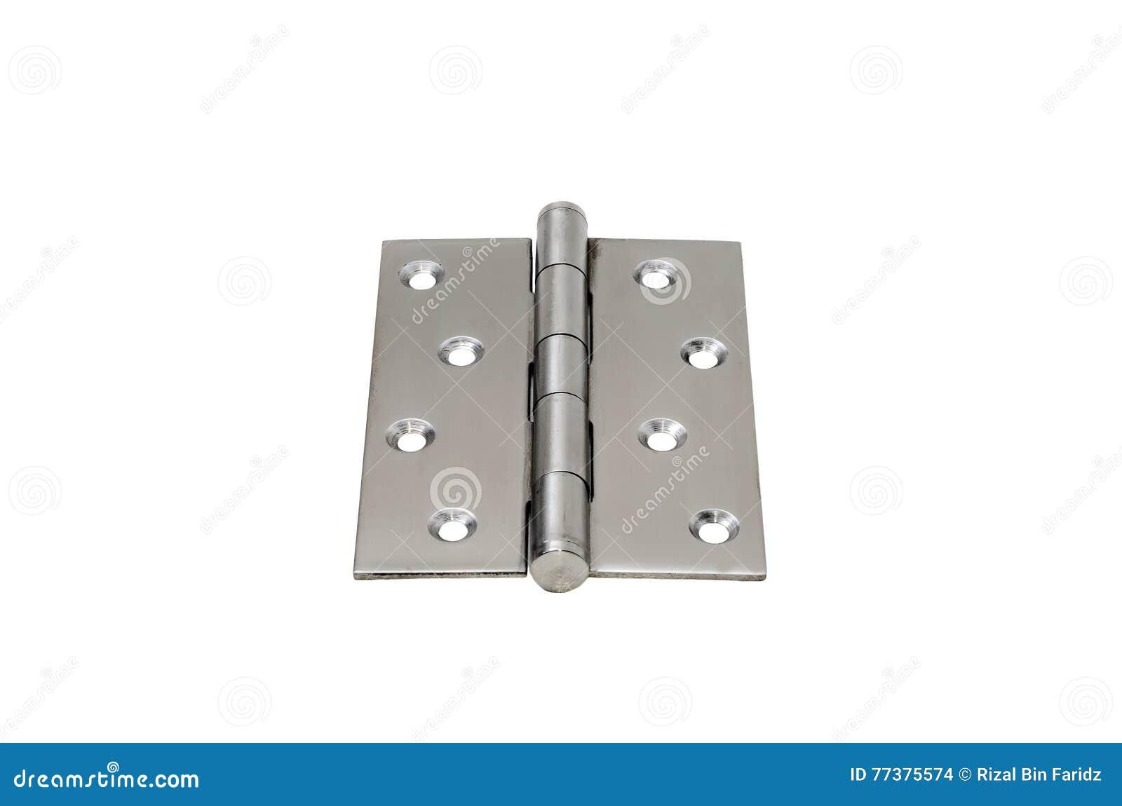 Steel hinges stock photo  Image of industrial, hinge - 77375574