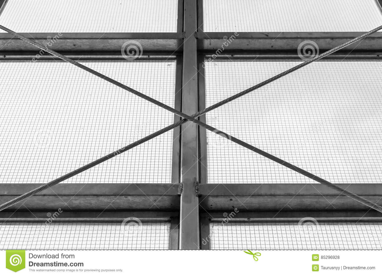 Steel Industrial Window Frame Stock Photo - Image of building ...