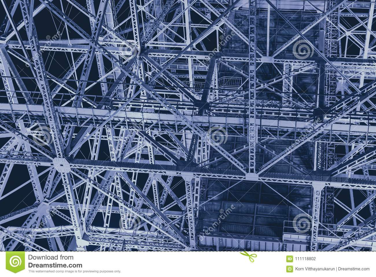 Steel metal industry construction futuristic science abstract for background