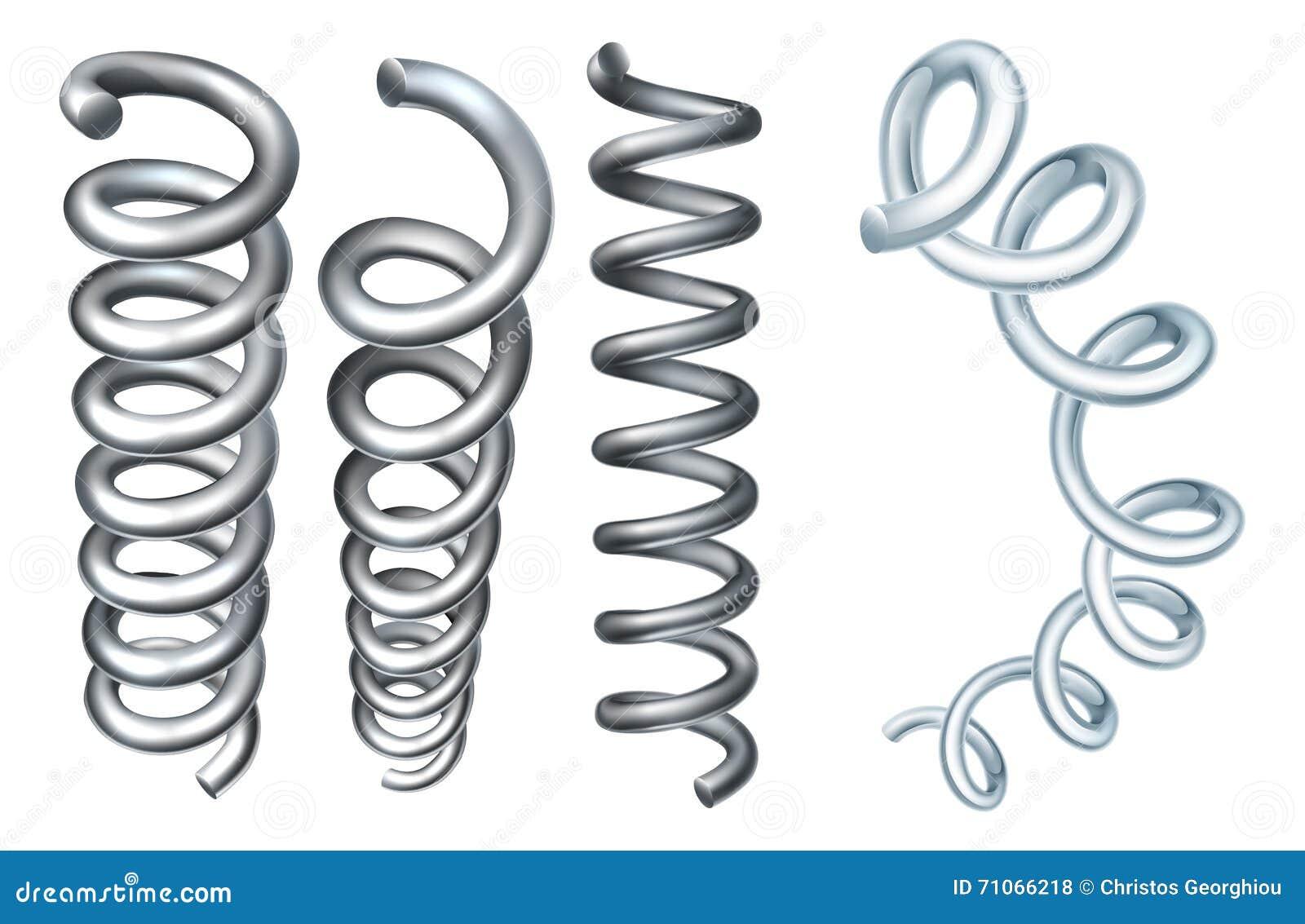 Steel Metal Spring Coil Design Elements