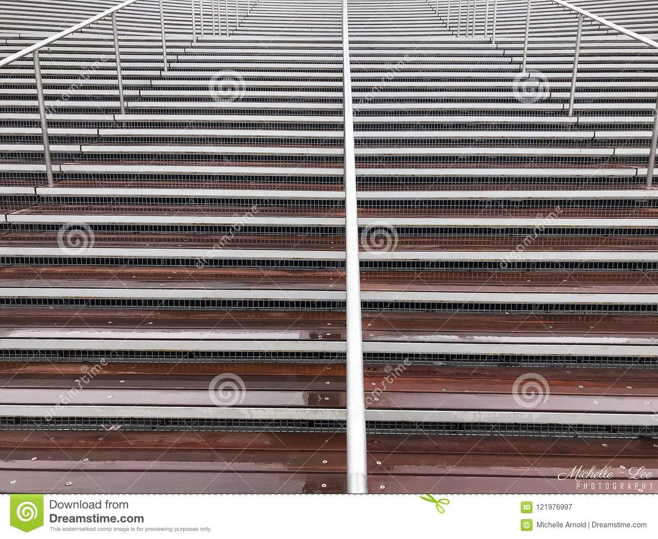 Download Steel Metal Stairs Outside In The Rain Stock Image   Image Of  Design, Rainy