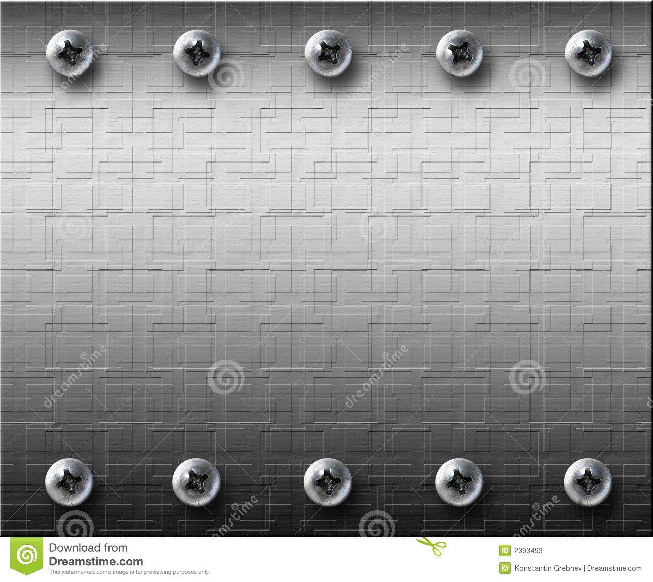 Steel Metall Plate With Bolts Stock Photos Image 2393493