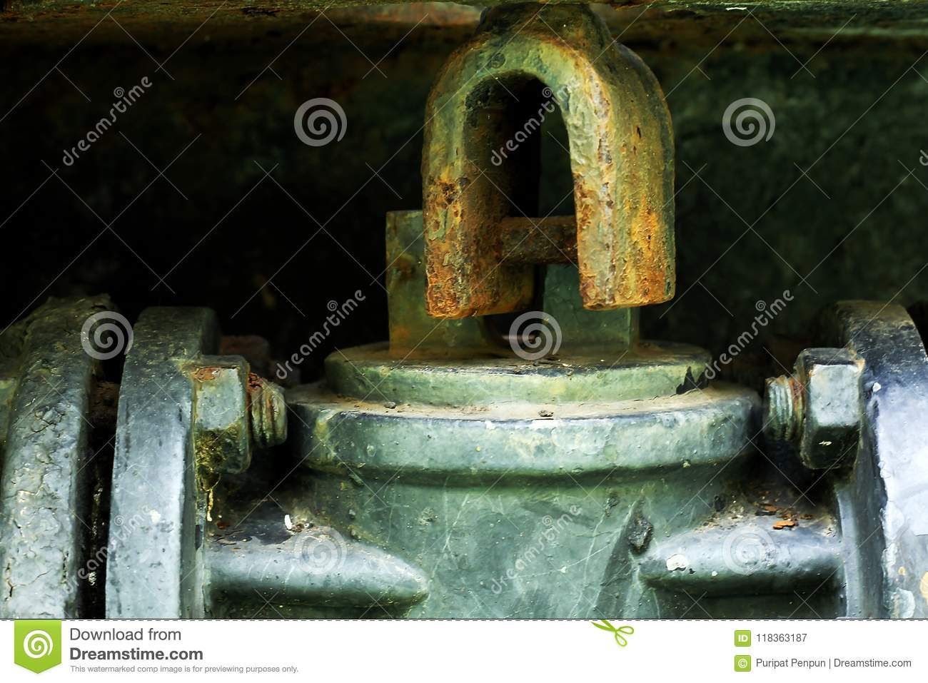 Steel Parts Rust And Color Glider  Stock Image - Image of