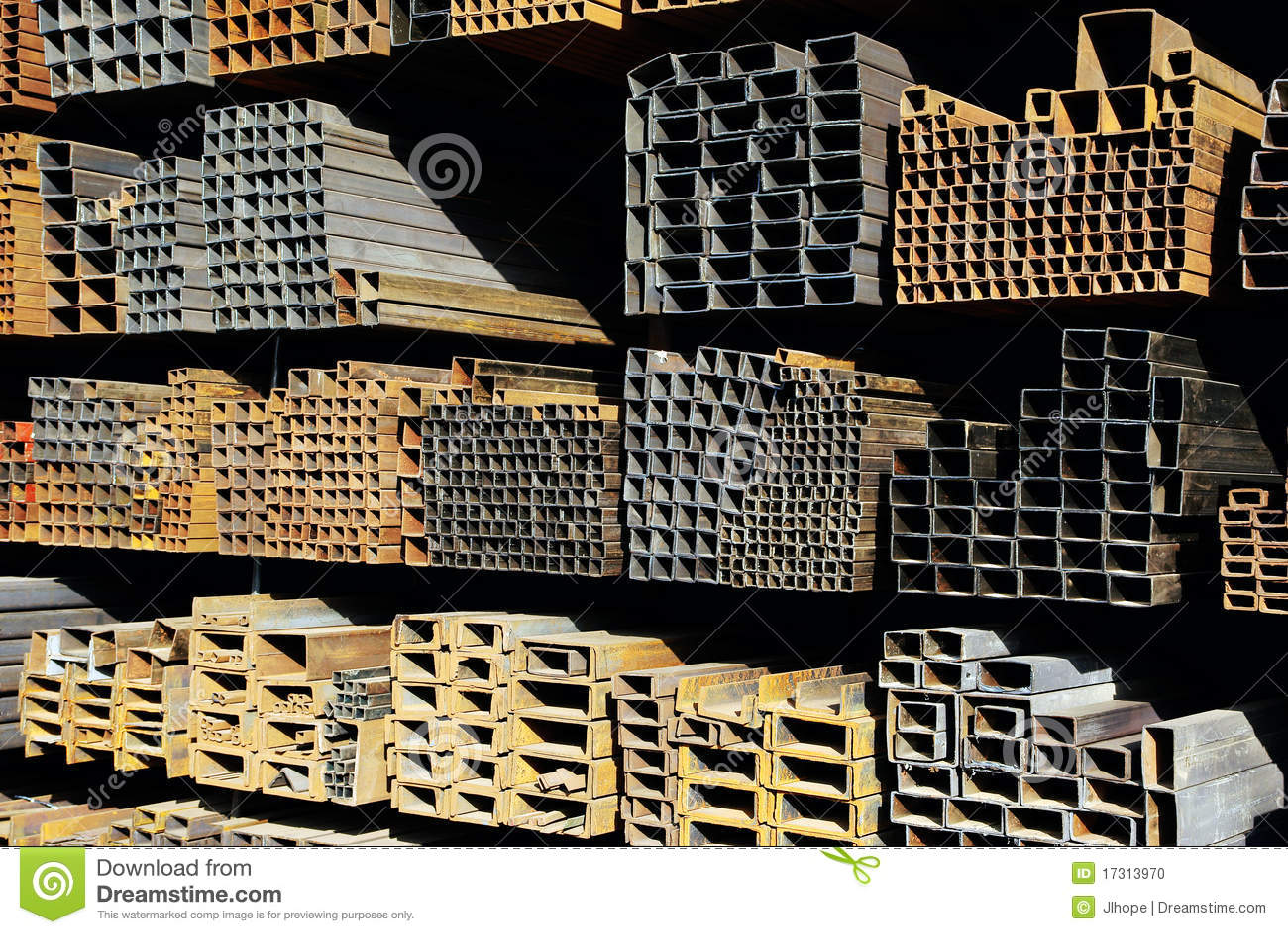 Steel pipes royalty free stock photo cartoondealer