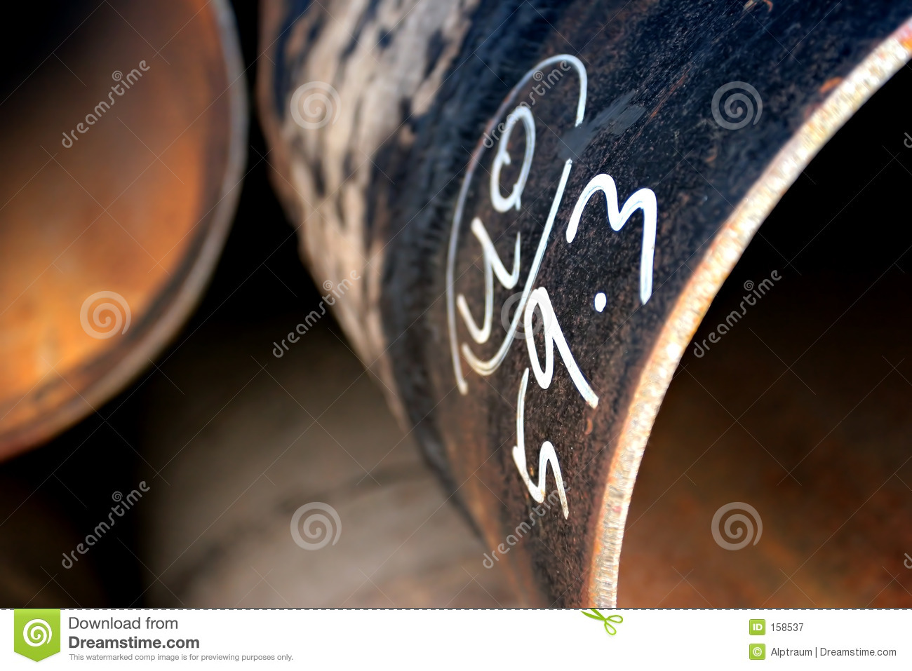 Download Steel pipes abstract stock image. Image of orange, close - 158537