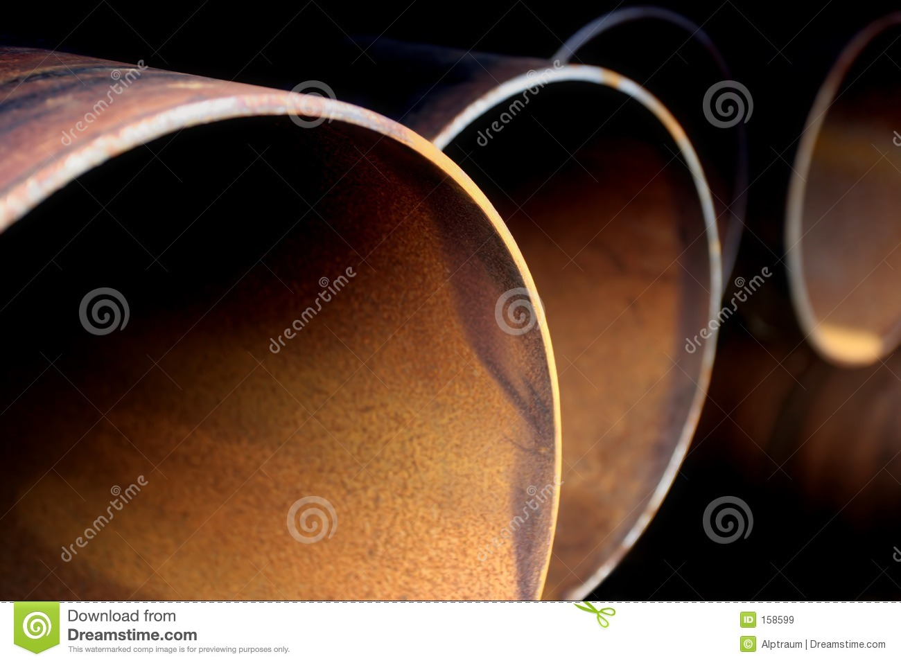 Steel pipes abstract