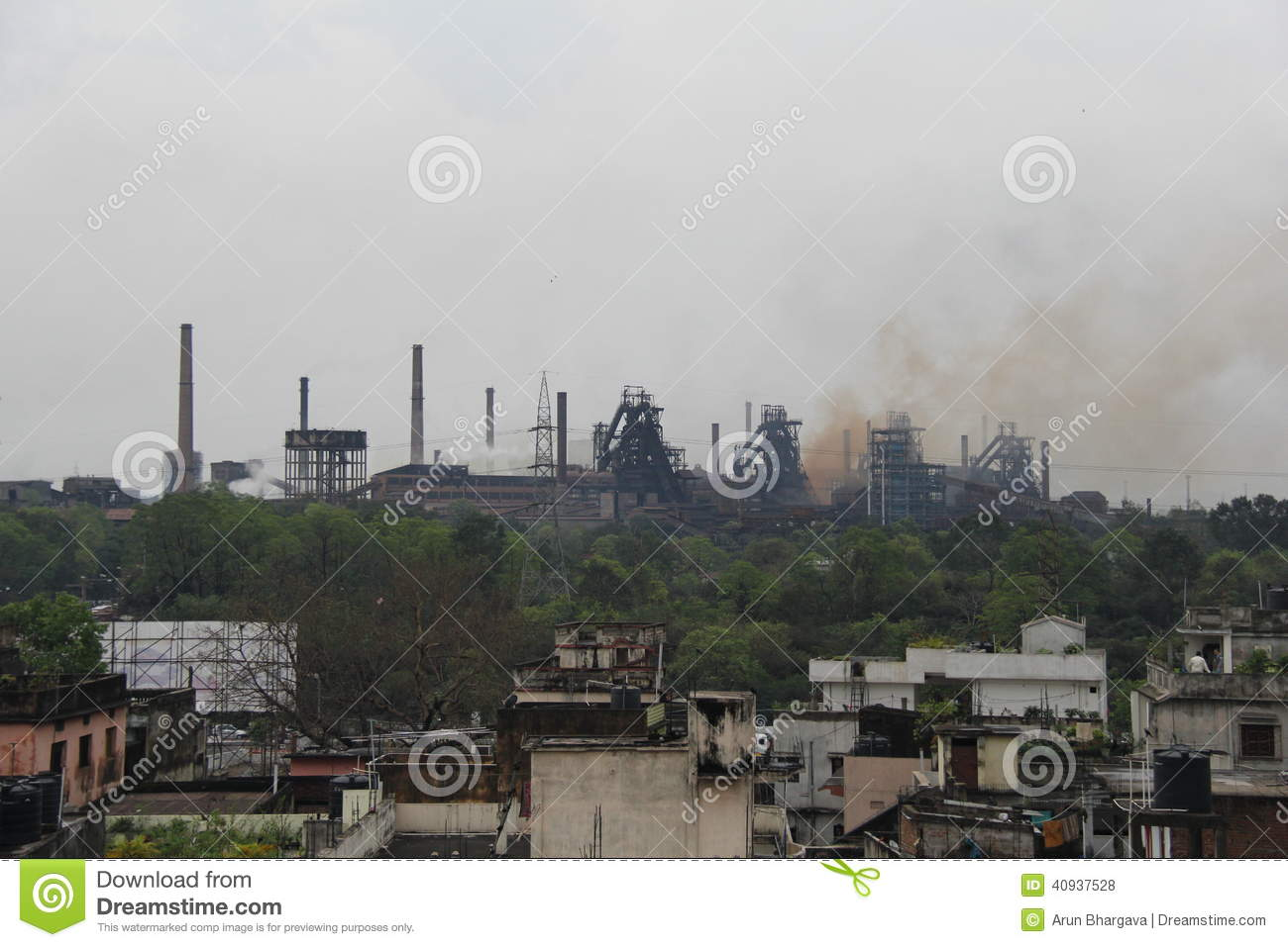 Rourkela India  City pictures : Steam flows out from chimneys at Rourkela Steel Plant, India.
