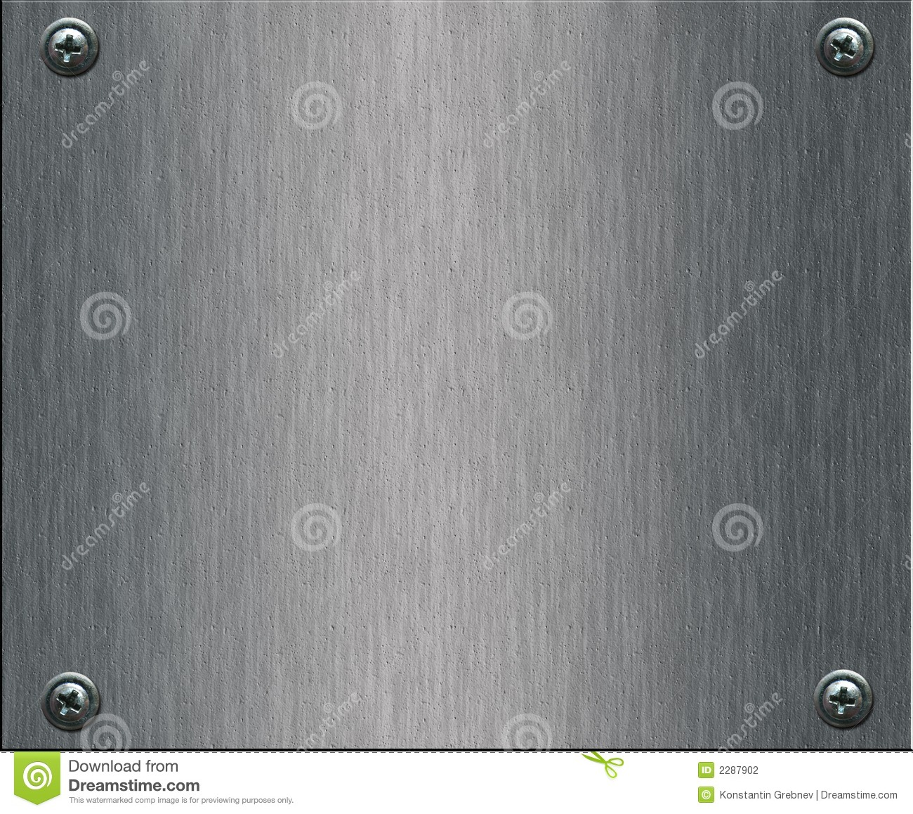 Steel plate with bolts