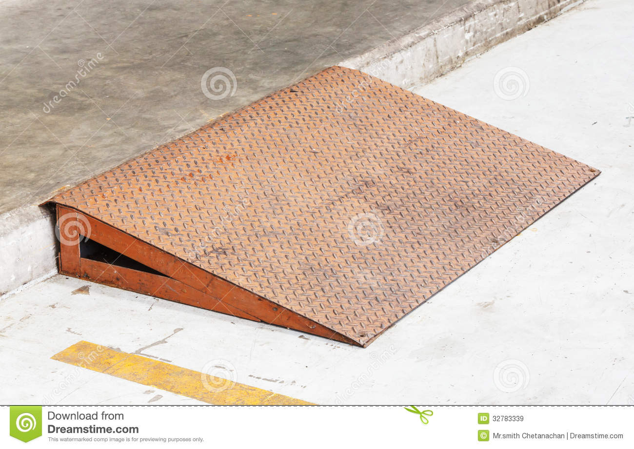 Steel Plate Ramp Stock Image Image Of Industry Durable