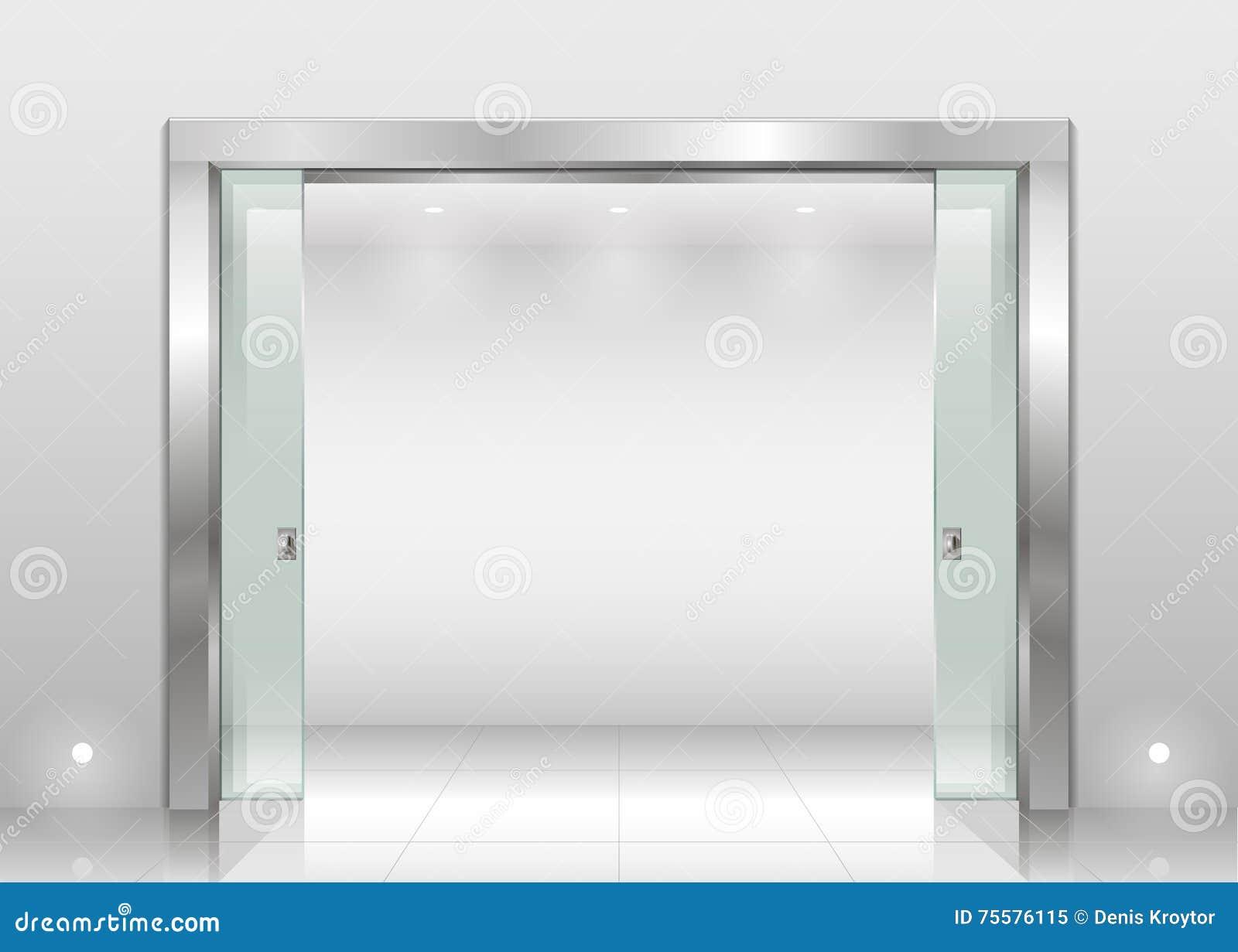 Steel Portal And Sliding Door Stock Vector Illustration Of Bank