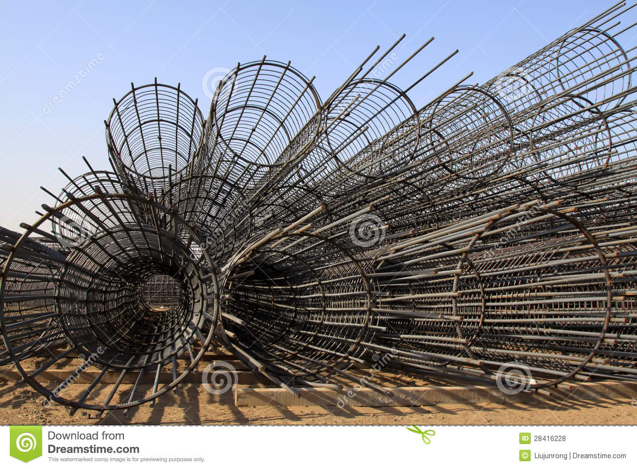 Steel Rebar Component In A Construction Site Royalty Free Stock Photos ...