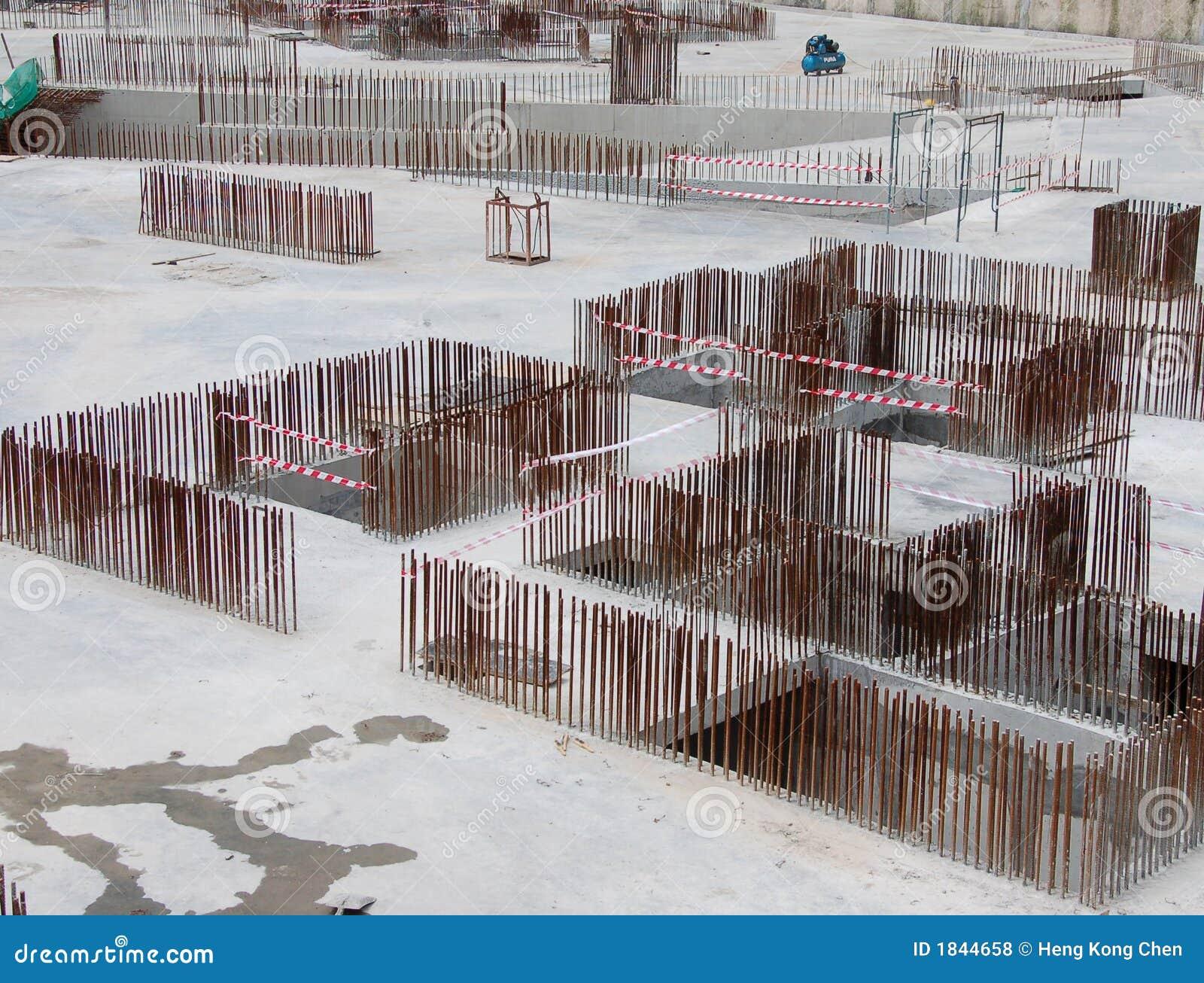 Steel Reinforcement Bars : Steel reinforcement bars stock photo image of foundation