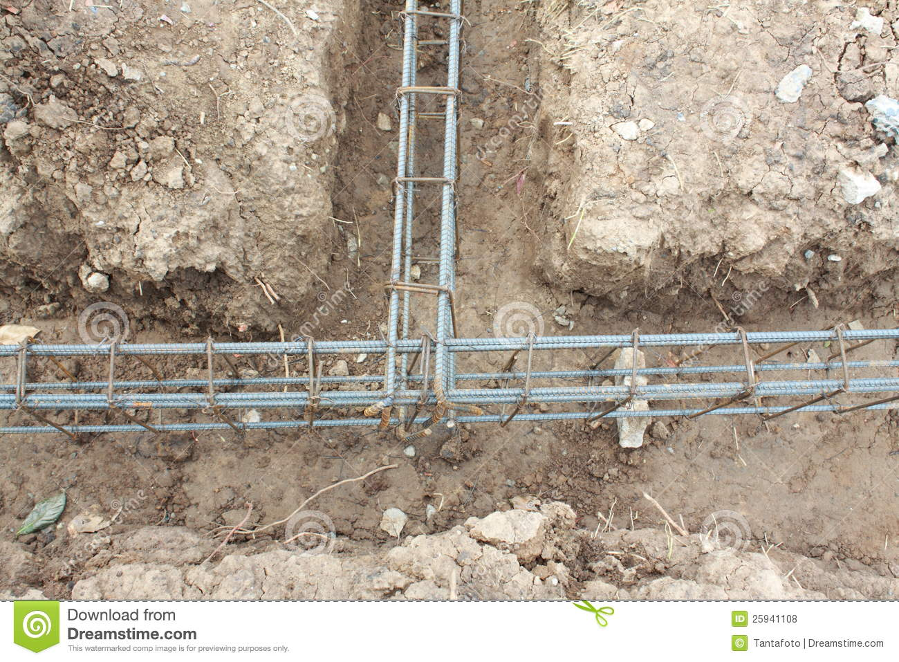 Steel Reinforcement Placed Royalty Free Stock Photos