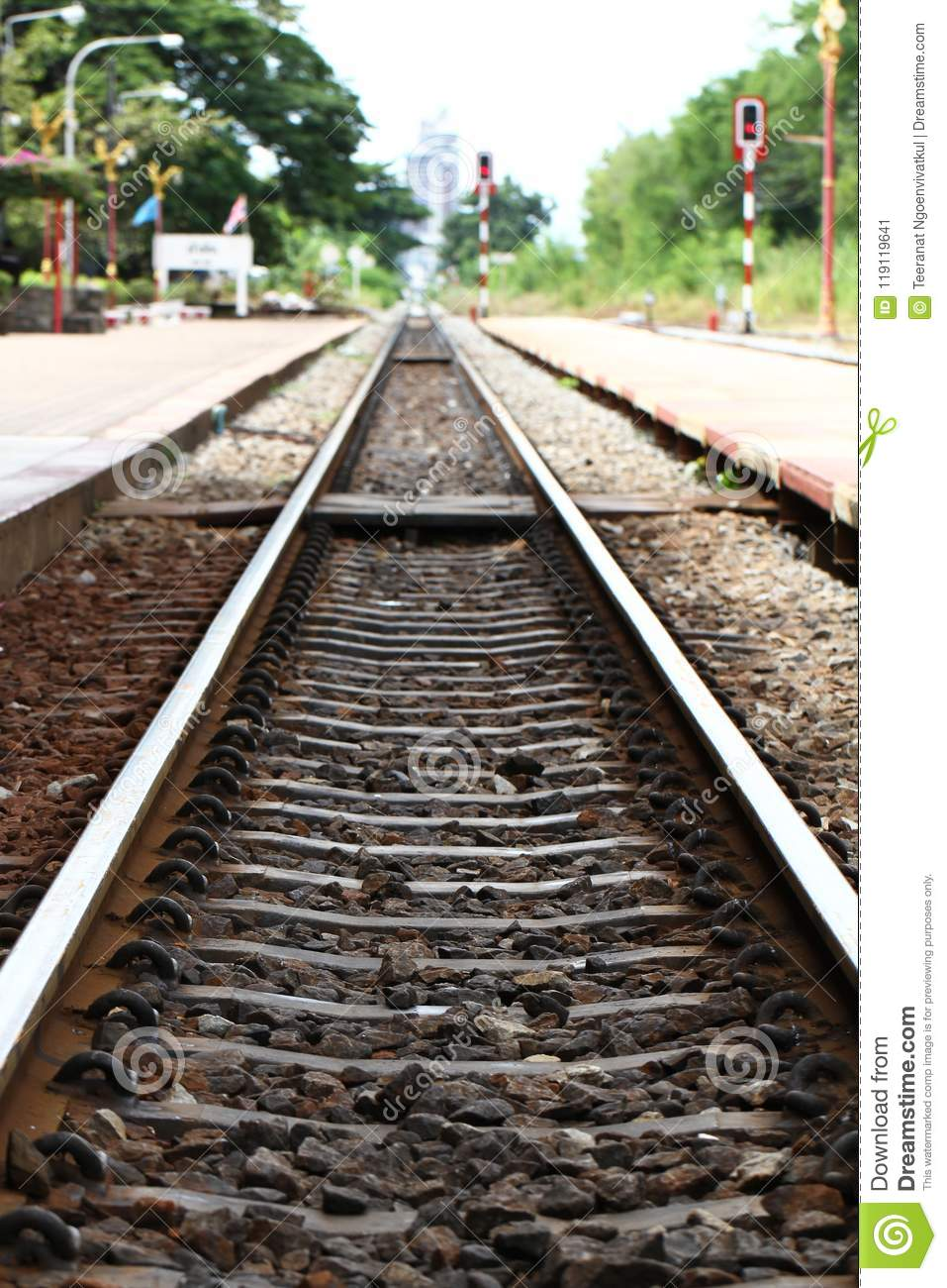 Steel And Rock Railroad Track Points, Rusty Train Track ...
