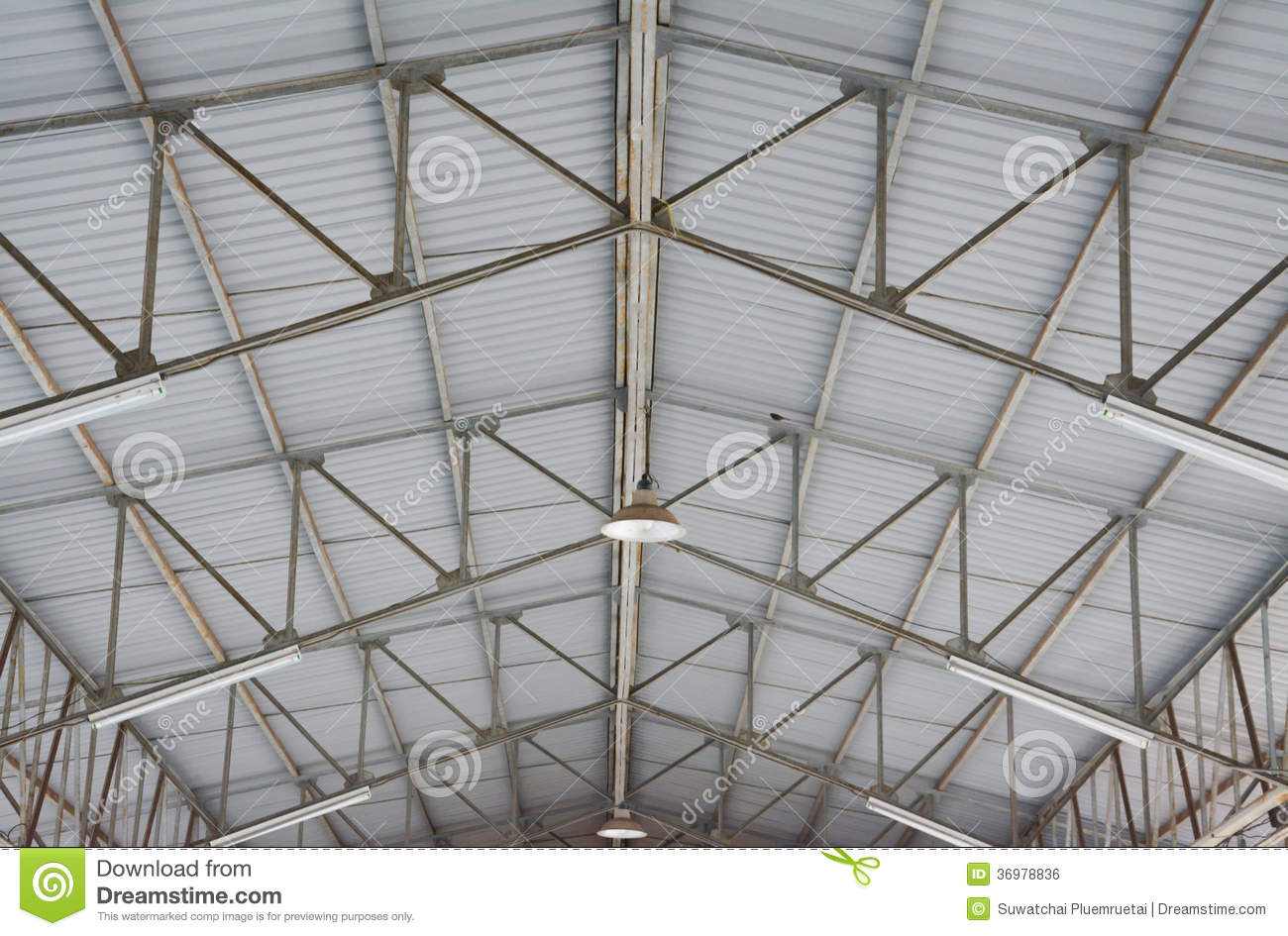 Steel Roof Structure Stock Photo Image Of Business High