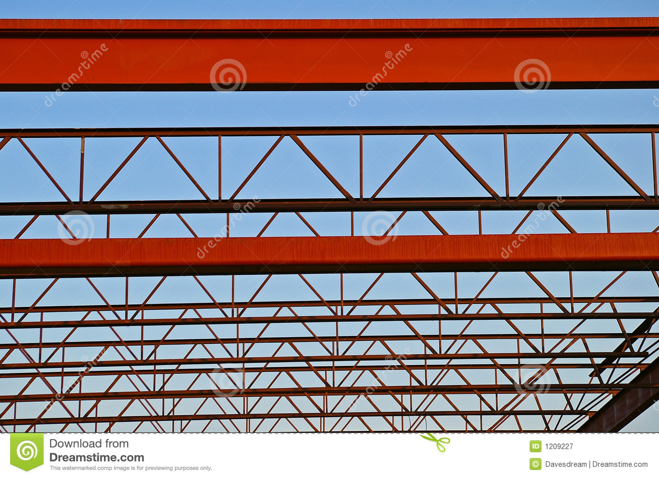 Steel Roof Trusses Royalty Free Stock Photography Image