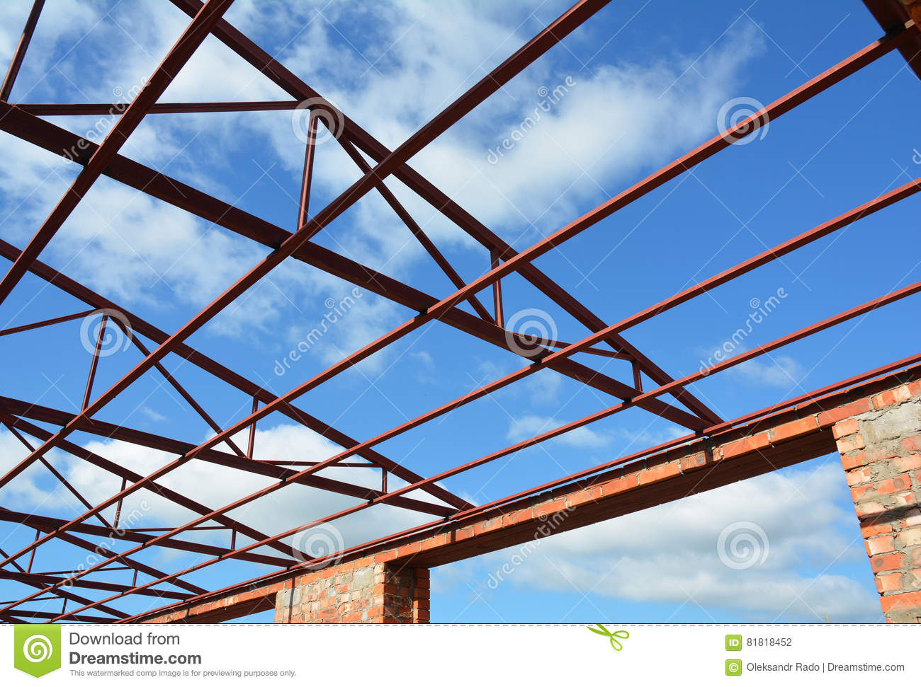 Steel Roof Trusses Details Steel Roof Trusses Sitting On Concrete