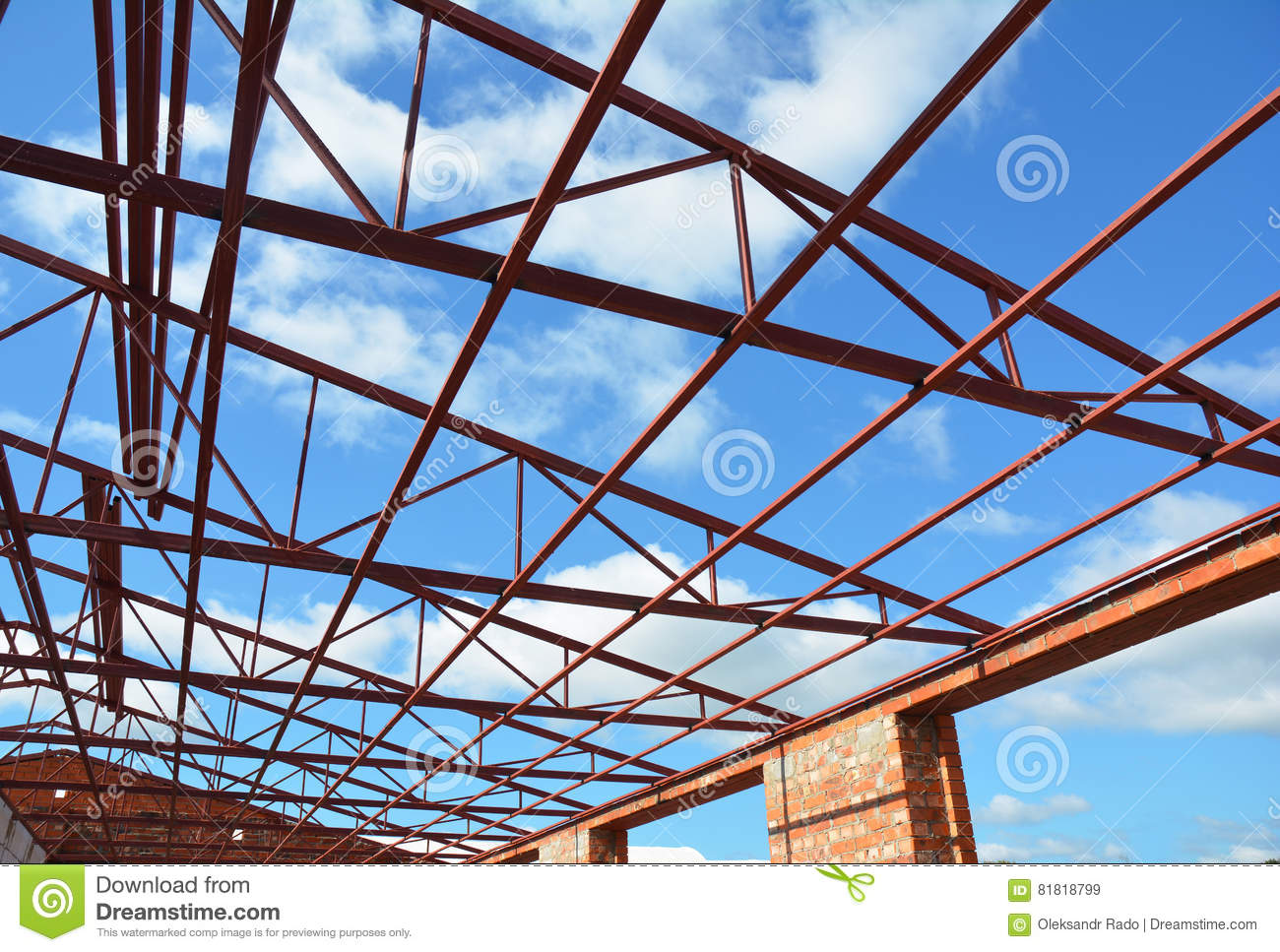 download steel roof trusses roofing construction metal roof frame house construction with steel roof - Metal Roof Trusses