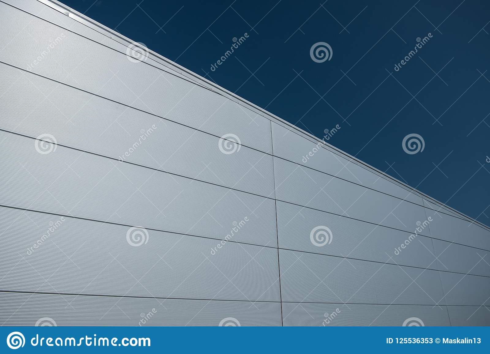 Steel Sandwich Panel Facade Stock Image - Image of modern