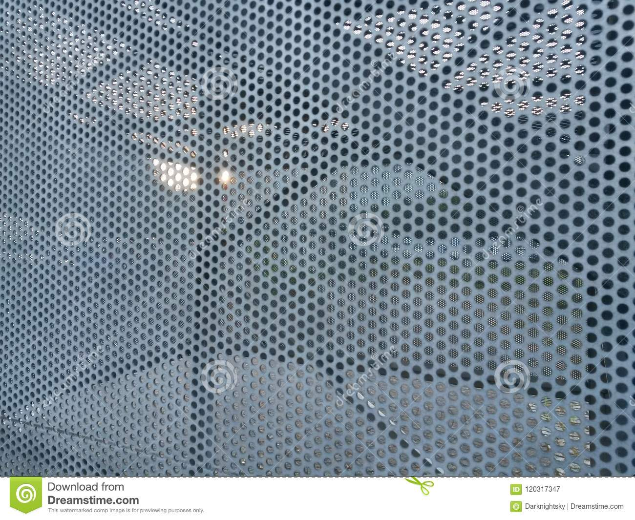 Steel Sheets With Translucency Stock Image - Image of construction ...