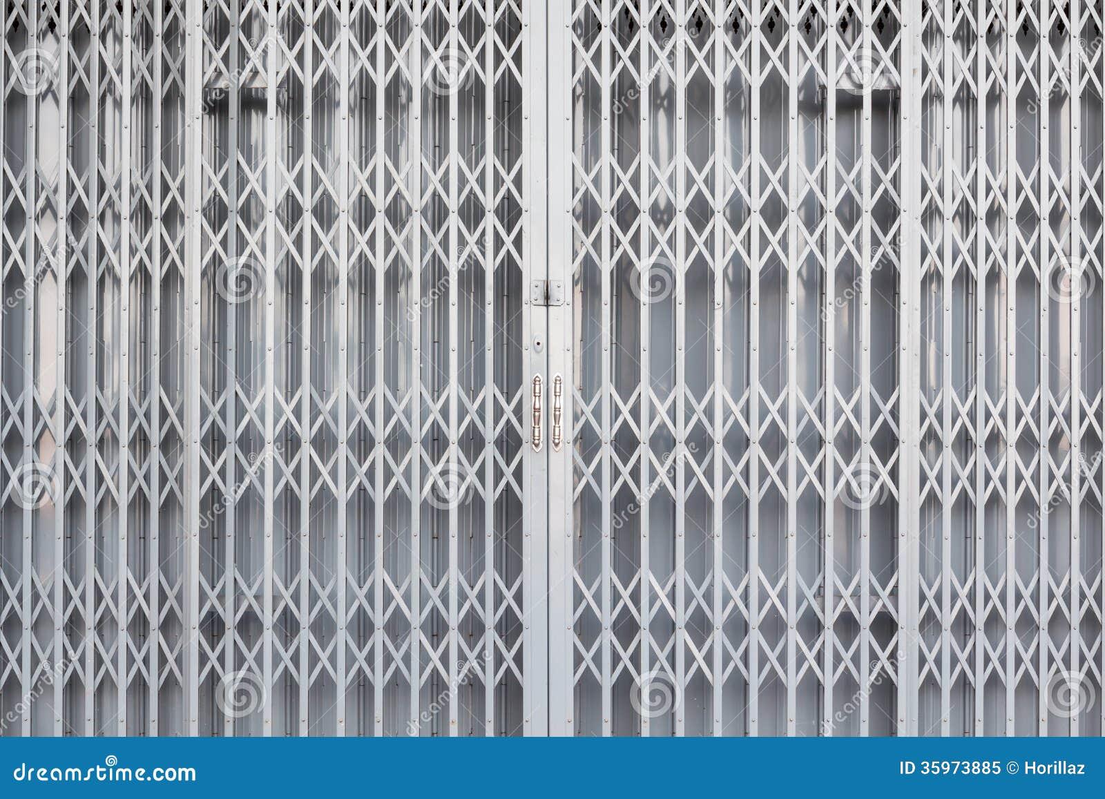 Steel Sliding Door Stock Image Image Of Rusty Close 35973885